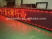 P7.625/p10/p12/p16 bar strip wifi wireless program led board screen programable