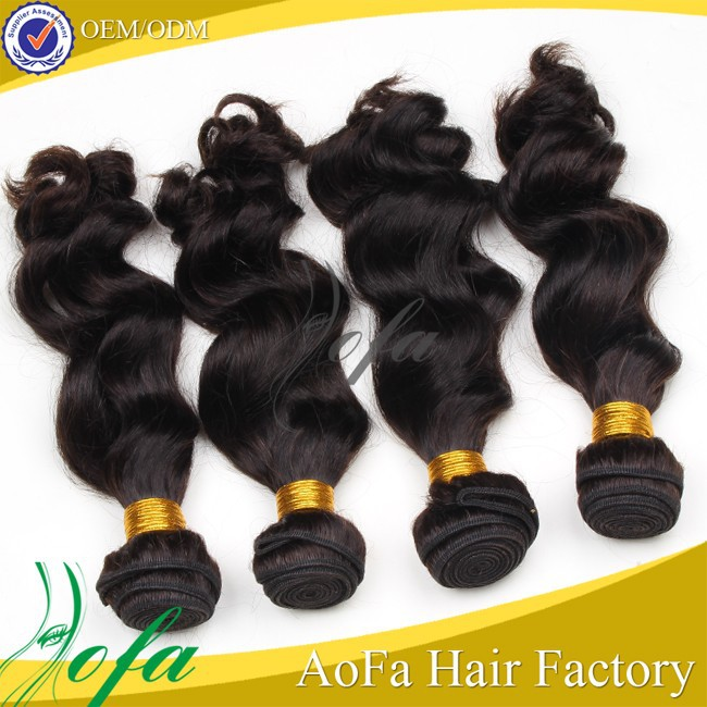 Unprocessed factory price drop shipping remy brazilian loose wave hair