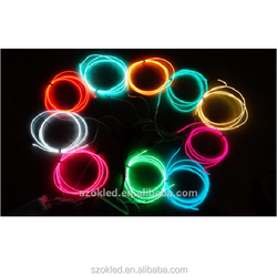 Promotional Polar 2 EL Wire 5M 5 Meter 10 Colors EL Wire Tube Rope Battery Powered Flexible Neon Light Party Decor W