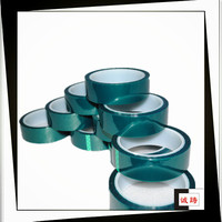 ISO9001&14001 Certified Green Silicone Adhesive 200 C High Temperature PET Tape