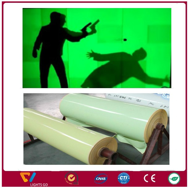 PVC cuttable printable self-adhesive rigid night glow photoluminescent Glow in the dark plastic sheet board