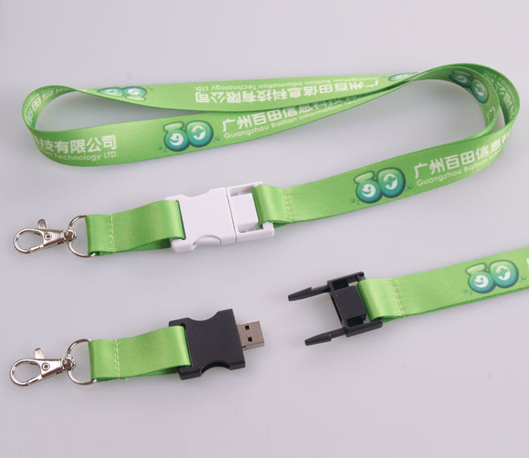 Best seller fashion lanyard with memory stick / usb flash drive lanyard