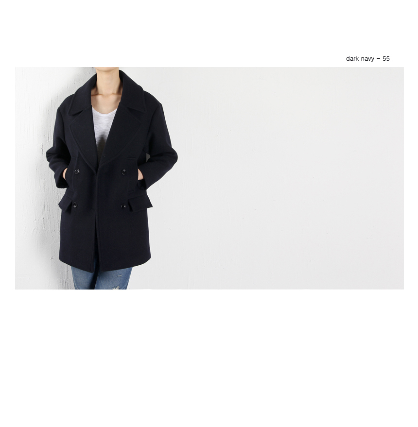 Wool marine double coat/ Girlmonster