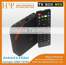 Beelink MXQ Amlogic Android TV Box S805 Quad Core 1GB RAM 8GB ROM Android 4.4 H.265 Wifi LAN Miracast Airplay DLNA XBMC TV Box