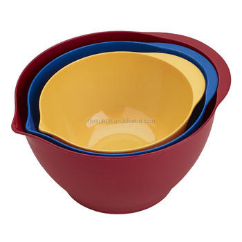 Melamine Mixing Bowl Set of 3 Bowls