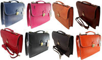 Made in Italy bag handbag men's briefcase leather workbag work laptop case 7004