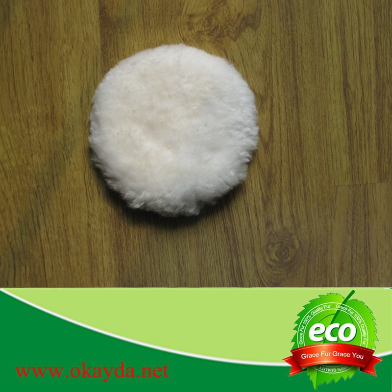 Very durable nylon hasp pure wool buffing pad