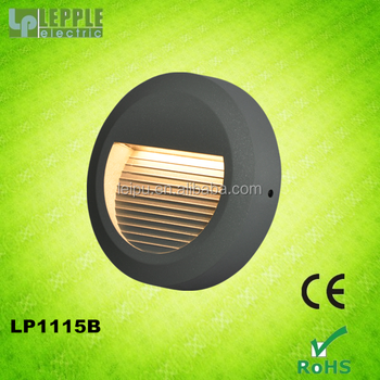 new die-casting aluminium die-casting LED recessed wall light