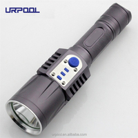 XM-L2 T6 LED Flashlight 6061T Aluminium Torch Brightness LED USB charge 5modes mobile power bank 18650 battery Intelligent flash