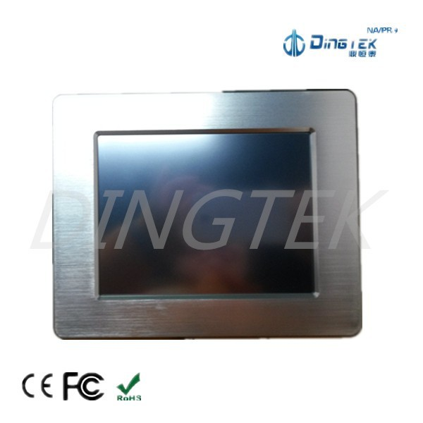 TF801 High quality rugged industrial fanless touch panel windows linux all in one pc with Intel CPU RAM 2G SSD 32G rs232 rs485 <strong>U</strong>