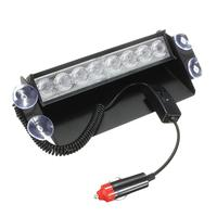 New Car Styling 8 LED 12V Car Strobe Flash Light Dash Emergency Warning Flashing Fog Lights