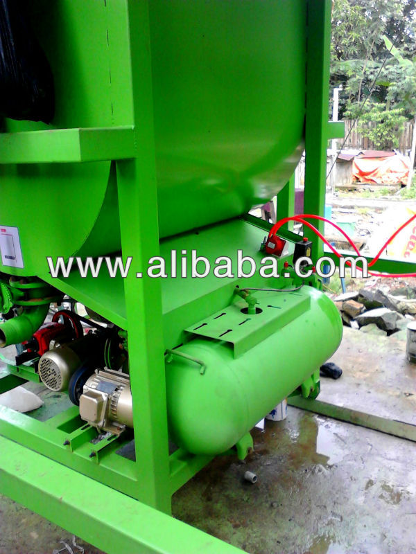 foamed concrete mixer with foam generator and air compressor