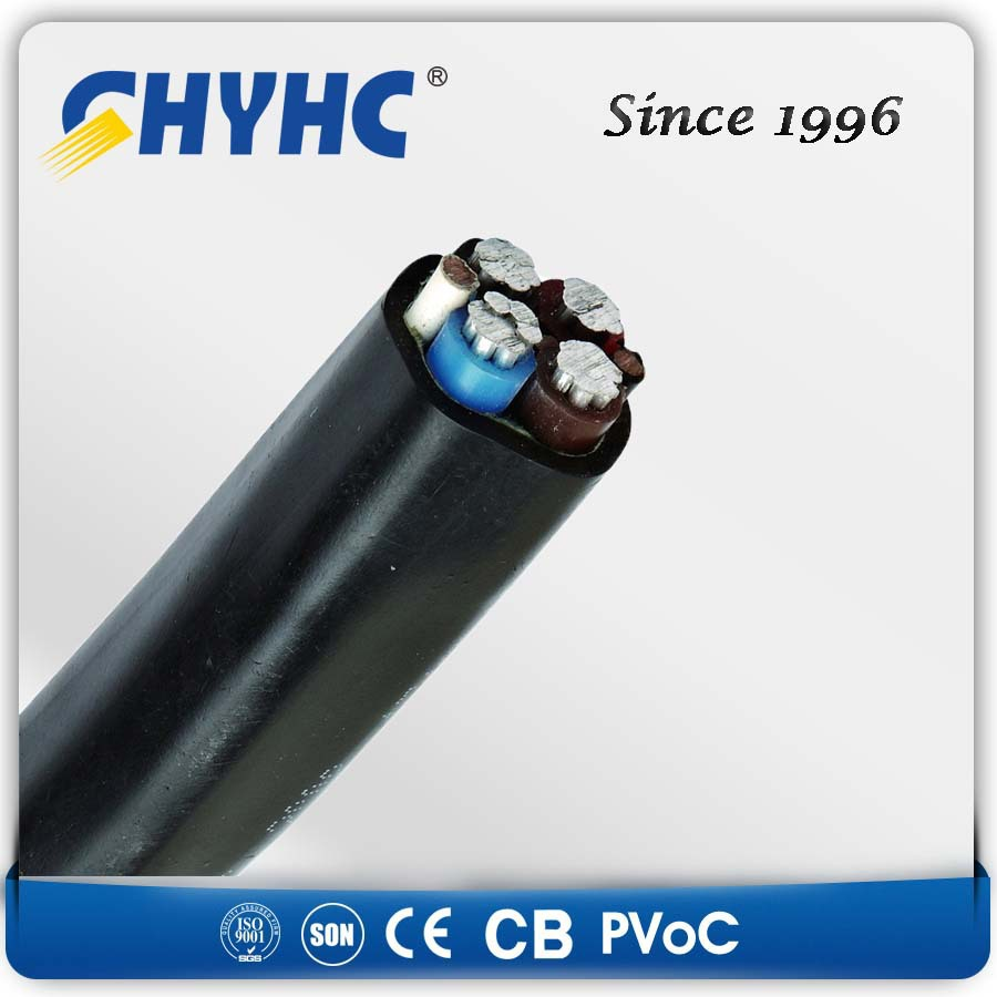 600/1000 PVC Insulated Sheathed, Steel Wire Armoured LV round plug pvc power cable
