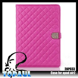 hot selling luxury cross stitch Leather Case for samsung galaxy tab