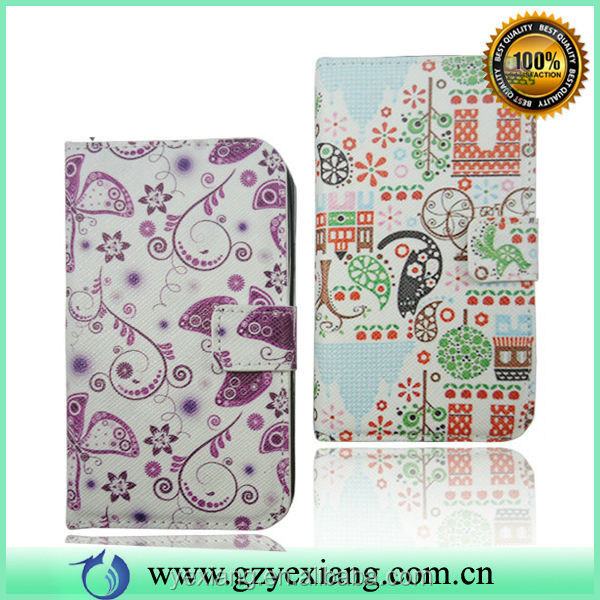 High Quality Leather Back Cover Folder Case For Samsung Galaxy S3 Purse Case