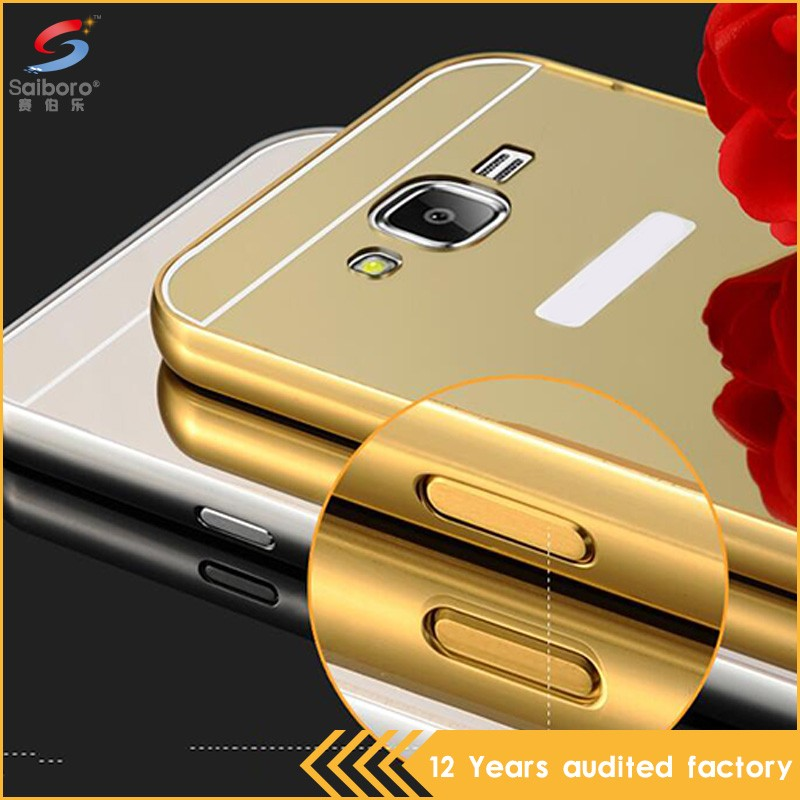 Fast delivery shockproof electroplating metal cover for galaxy j7 phone case