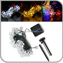 20/30LED Ice Cube Solar Powered Fairy String Light for Garden Fence Path Party(JL-7556)