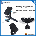 Adjustable CD Player Slot Magnetic Mobile Phone Car Mount Holder With 360 Rotating Magnet Stand Phone Holders