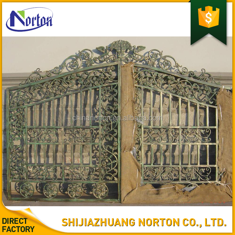 house decor beautiful design cast iron courtyard gates NT-CIY092