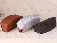 fashion cow leather glasses case genuine leather