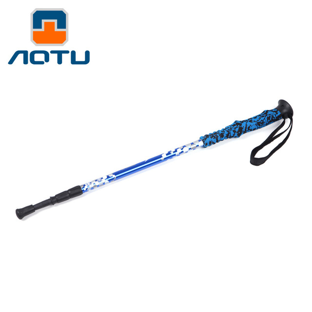 Best quality walking pole outdoor light climbing rod aluminum alloy 7075 walking stick outdoor AT7556