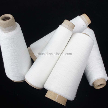 stock lot raw white viscose spun yarn