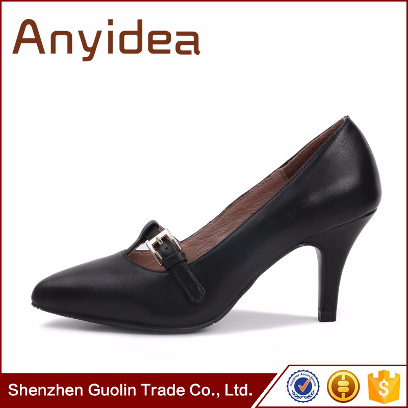 2015 latest Leather Ladies High Heels, Stiletto heel sHigh Heel Shoes for Women