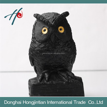 handmade cystal animal figurine black stone owl