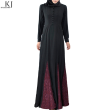 2018 royal saudi arabia women paneled skir t princess cut dress muslim abaya islamic maxi dress with long sleeve