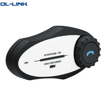 GXV electric bt wireless motorcycle intercom with camera