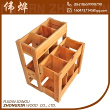 multi function 6 bottle wooden beer crate for sale