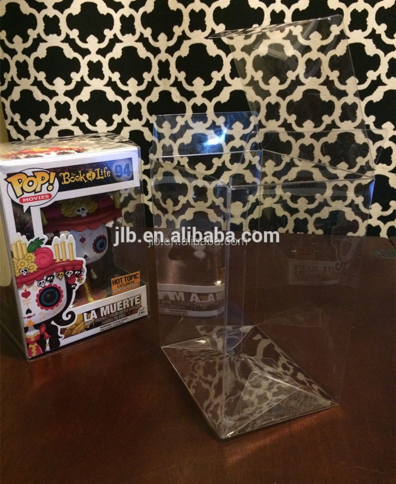 Clear plastic protector case for funko pop, Acid-free Crystal PET FUNKO POP PROTECTORS