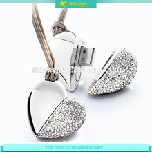 Lovely hearted style jewerly 1gb 2gb 4gb 8gb 16gb 64gb gift usb driver