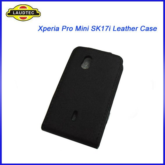 Leather Case for Sony Ericsson Xperia Mini Pro SK17i, Flip Case Cover Holster