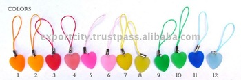 jelly gummy heart cell phone strap, cellphone charms