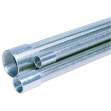 Electrical BS4568 GI steel Conduit pipes with steel coupler and plastic cap on both side