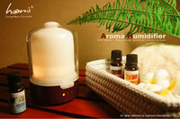 HA860 real wood and glass ultrasonic aroma diffuser
