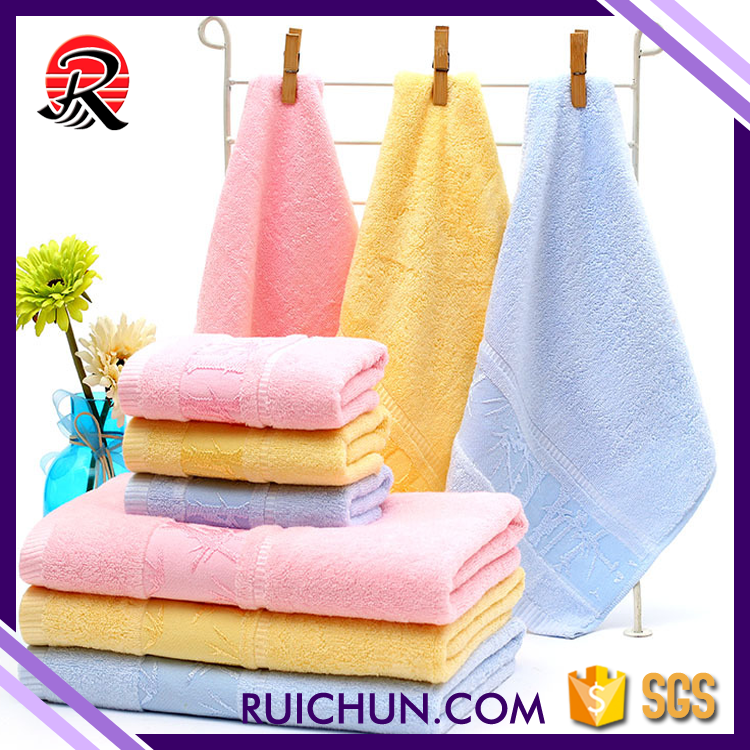 Family Use Size35*75 Lovely Home Environment Bamboo Towels