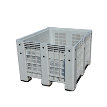 Botttom price 1000*1200*760 Solid stacking bin/plastic container for food/plastic pallet box