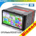 Touch Screen Car DVD Player with Download Phone Book,External TV and 3G DJ7053