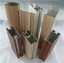 Aluminium Alloy Window Frame Wrapped by Wood Grain PVC