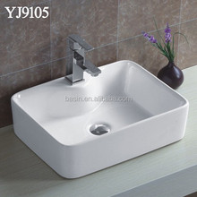 9105 chaozhou bathroom ceramics sanitary square counter art basin price