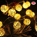 Holiday lighting decorative led rattan string lights