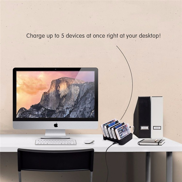 Amazon hot selling new style 5 port usb charging station multi-port charger