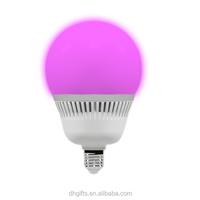 remote control LED E27 RBG light bulb 10W 16 kinds of color change RGB lamp
