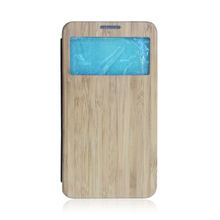 2015 New Real Wood Leather Wallet Flip Phone Case For Samsung Galaxy Note3,wood flip leather case