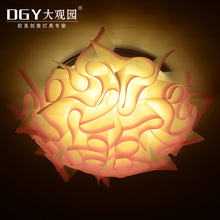 Flower shaped weddings fancy decorative modern inside led ceiling light