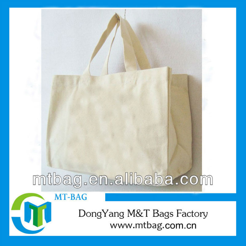 natural color simple design extra large customized canvas tote bag