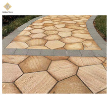 Top popular honed cheap garden stepping stones on yellow color
