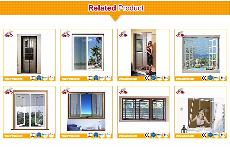 High performance protection folding aluminum screen mesh window